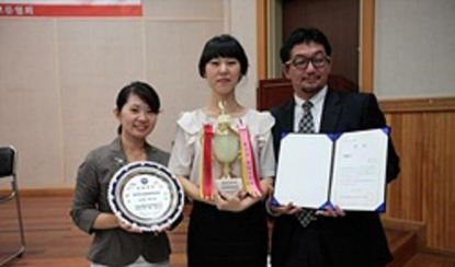 Lee Sun-hwa bags the grand prize in the 27th Japanese Speech Contest