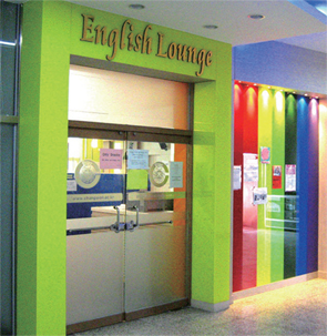 The explanation about the English Lounge